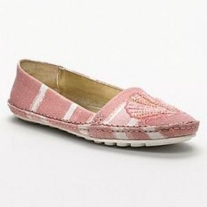 Coach Rorie pink and white canvas shoes size 6